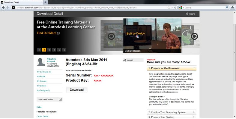 autodesk 3ds max 2011 serial number and product key
