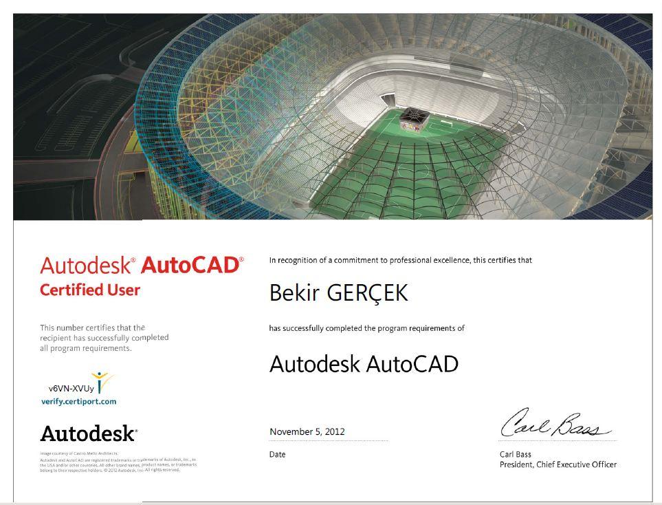 Autodesk SERTİFİKA